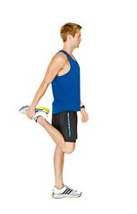 Alongamento posterior da perna com as pernas afastadas