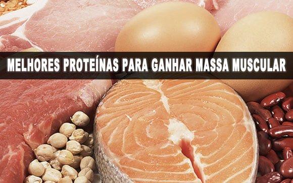 melhores proteínas para ganhar massa muscular dieta