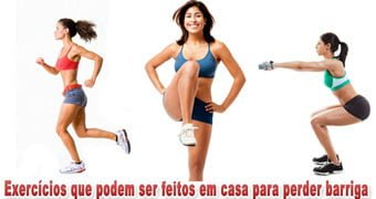 Exercícios para fazer em casa perder barriga emagrecer