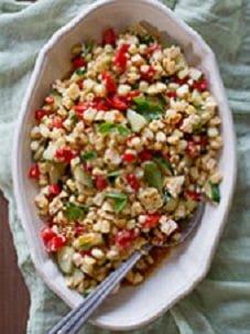 Salada light de arroz integral