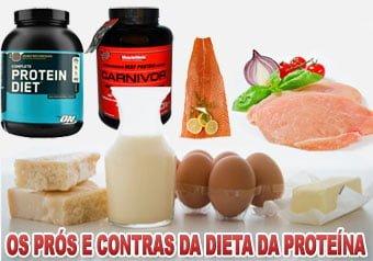 Os prós e contras da dieta da proteína