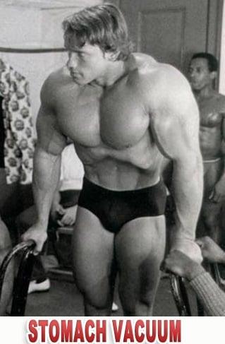 Stomach Vacuum técnica para afinar a cintura usada por Arnold