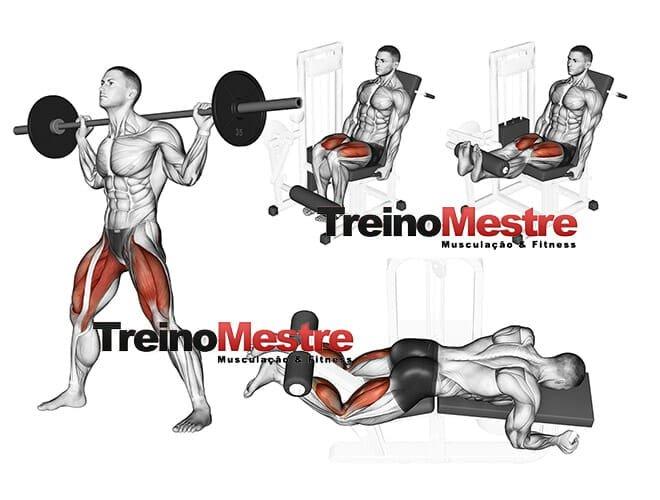 Pontos de descanso nos exercicios para pernas