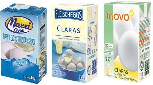 clara de ovo pasteurizada resfriada