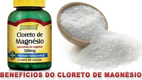 Cloreto de Magnésio benefícios como tomar