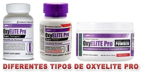 diferentes tipos de oxyelite pro