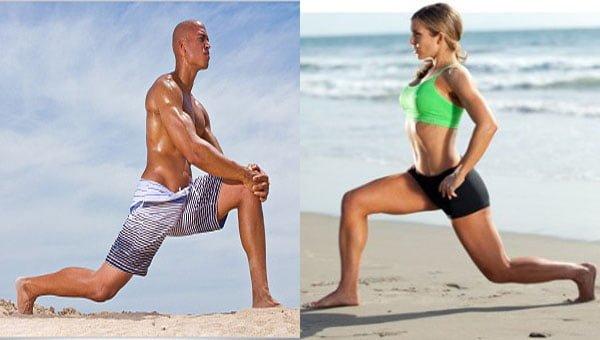 como treinar na praia