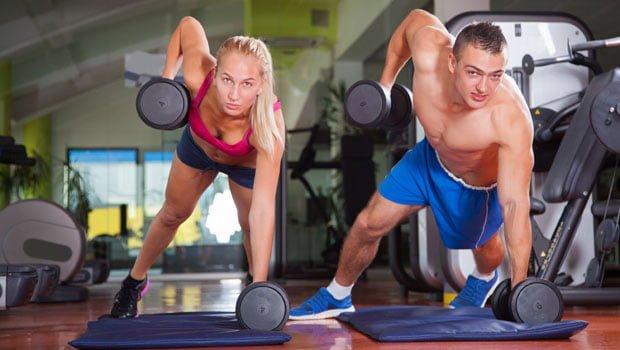 Treino intervalado de musculação