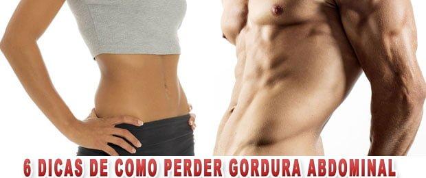 6 dicas de como perder gordura abdominal