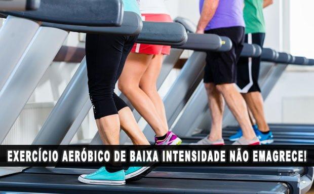 Exercícios aeróbicos de baixa intensidade não emagrece