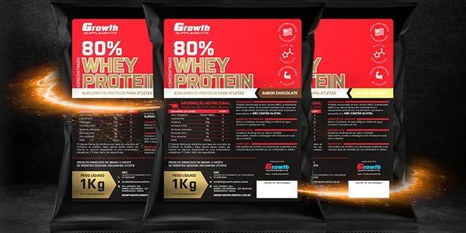 Whey Protein Concentrado Growth: qualidade importada a preço de fábrica.