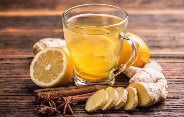 chá de gengibre com limão receitas