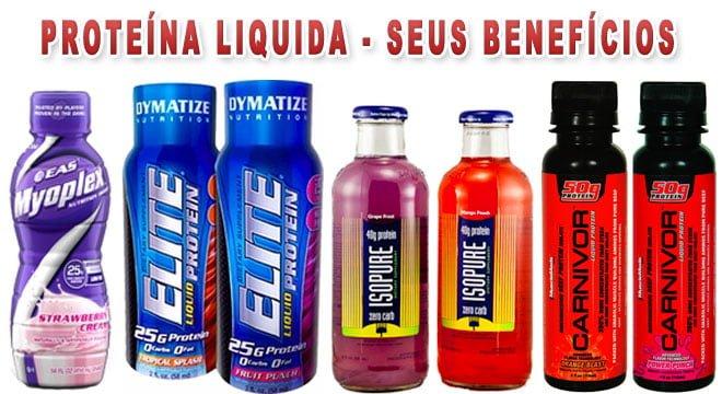 Proteína liquida bebida benefícios