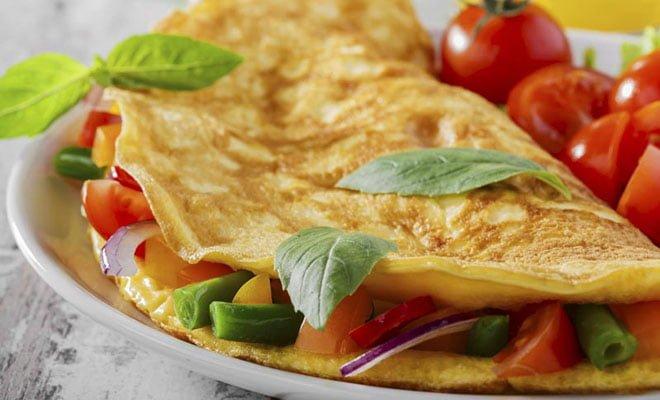 receitas de omelete light