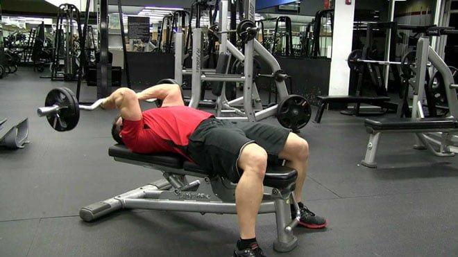 Tríceps testa execução correta