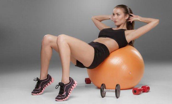 abdominal na fitball