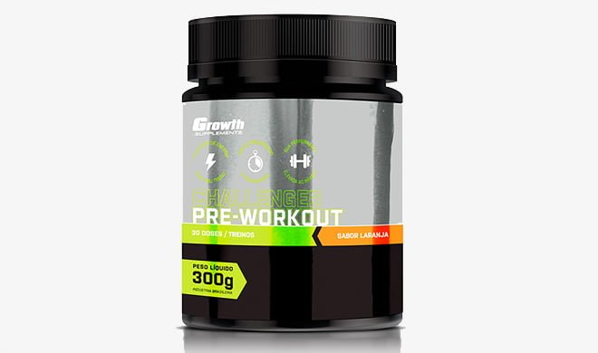 Pré treino Challenger da Growth Supplements