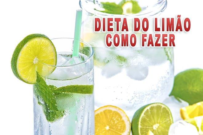 Dieta do limão com água gelada