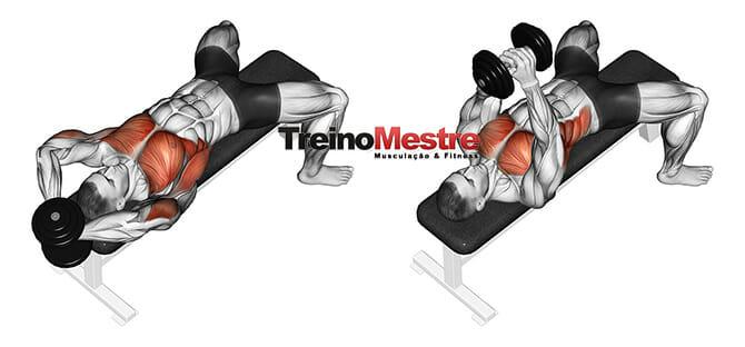 Exercício pullover com peito ou costas execução correta