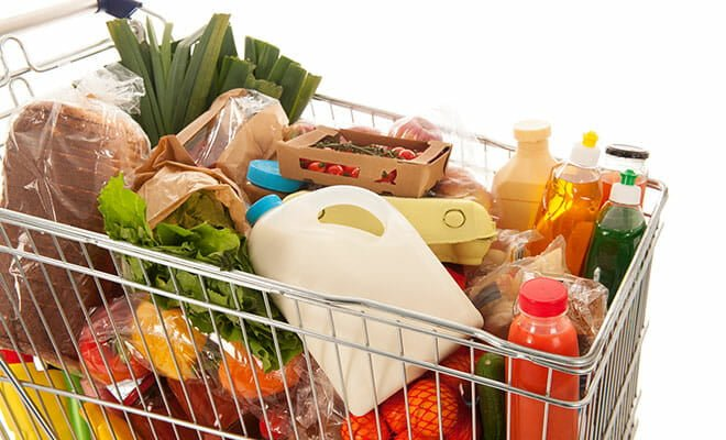 Lista de mercado com alimentos para dieta musculação, hipertrofia e emagrecer