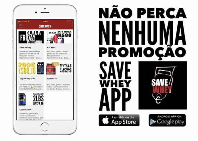 Save whey app promoção