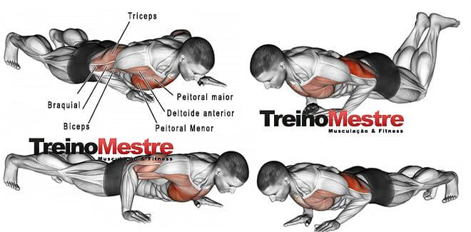 Exercícios apenas com o peso do corpo para ter braços mais fortes