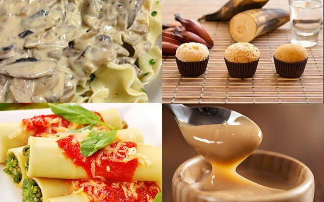 receitas vegetarianas salgadas e doces light